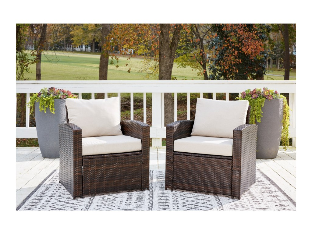 Signature Design by Ashley East BrookSet of 2 Lounge Chairs w/ Cushion