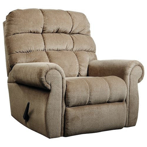 Signature Design by Ashley Edger Rocker Recliner with Rolled Arms
