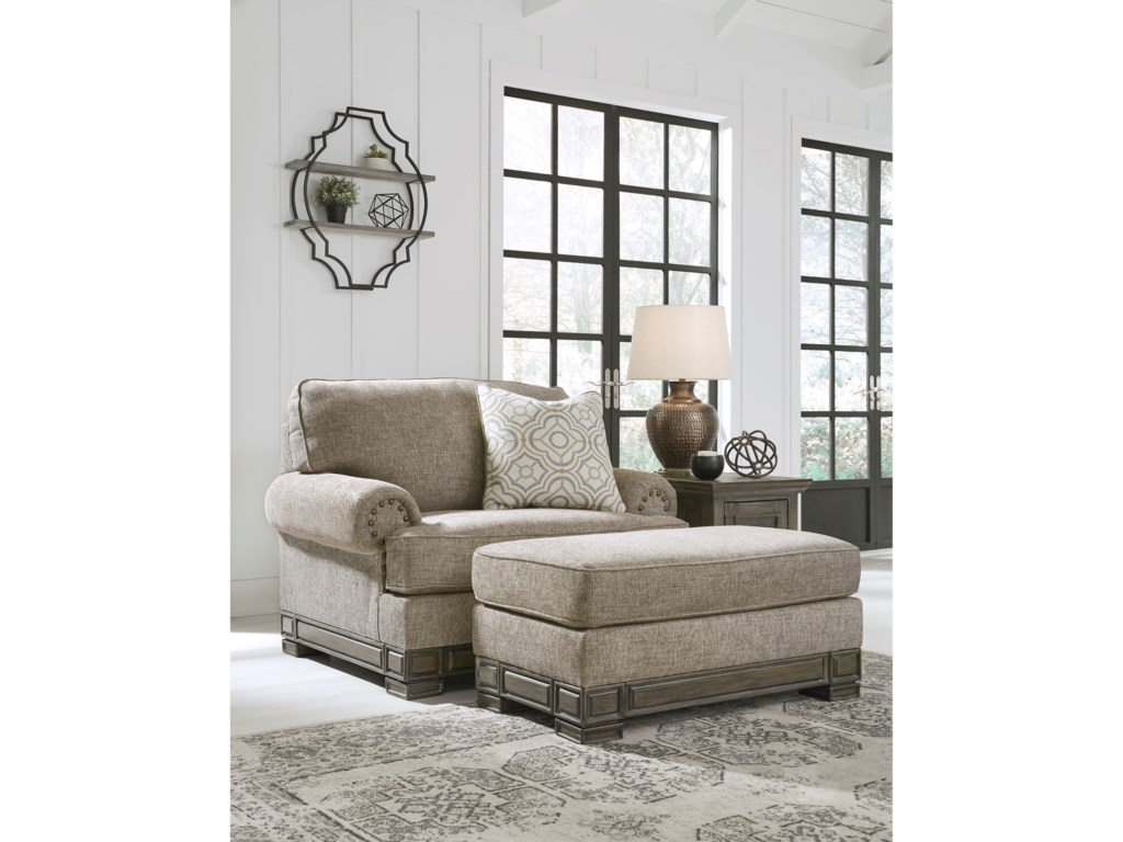 Signature Design by Ashley EinsgroveChair and a Half with Ottoman