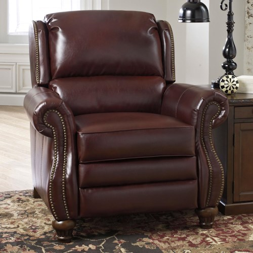 Signature Design by Ashley Elberton DuraBlend® Traditional Low Leg Recliner with Wing Bustle Back