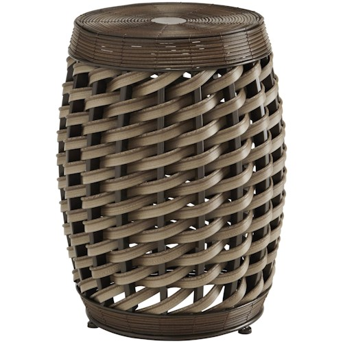 Signature Design by Ashley Elgielyn Faux Rattan Indoor/Outdoor Accent Stool/End Table