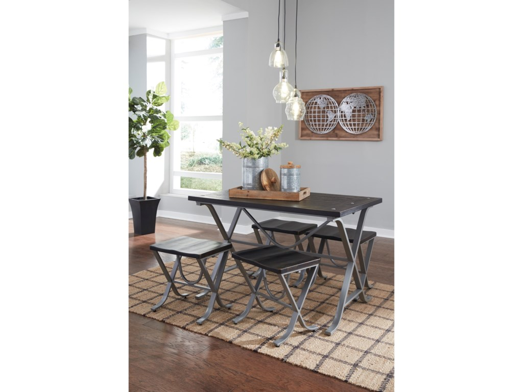 Signature Design by Ashley Elistree5-Piece Rectangular Dining Room Table Set