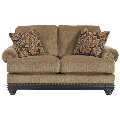 Signature Design by Ashley Elnora Transitional Loveseat with Reversible Seat Cushions
