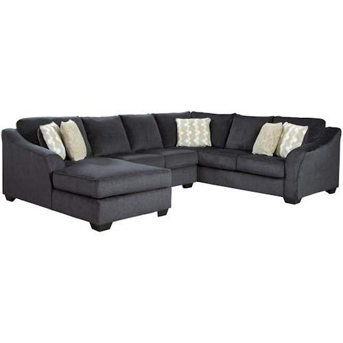 Signature Design by Ashley Eltmann 3-Piece Sectional with Left Chaise