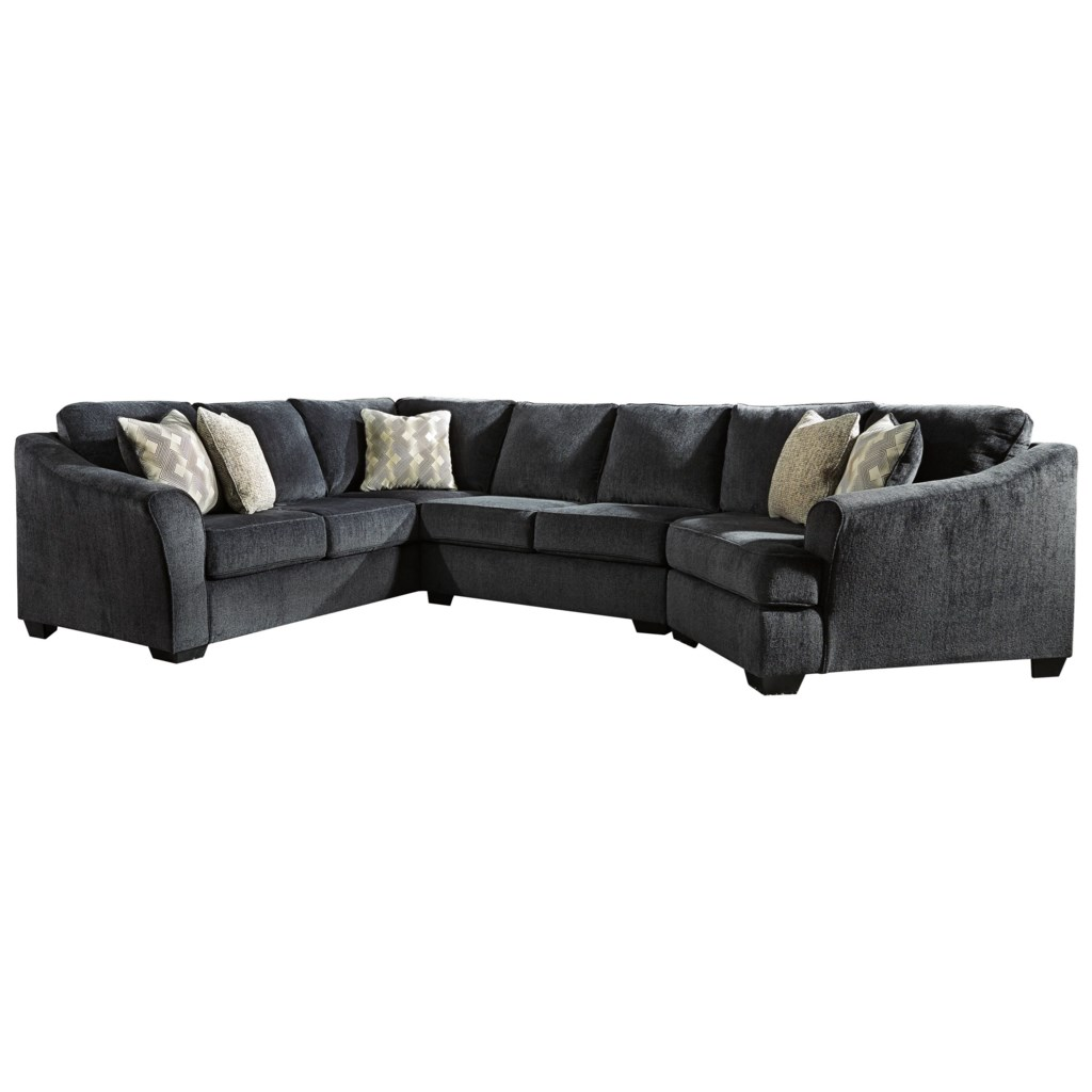Signature Design By Ashley Eltmann 3 Piece Sectional With Right