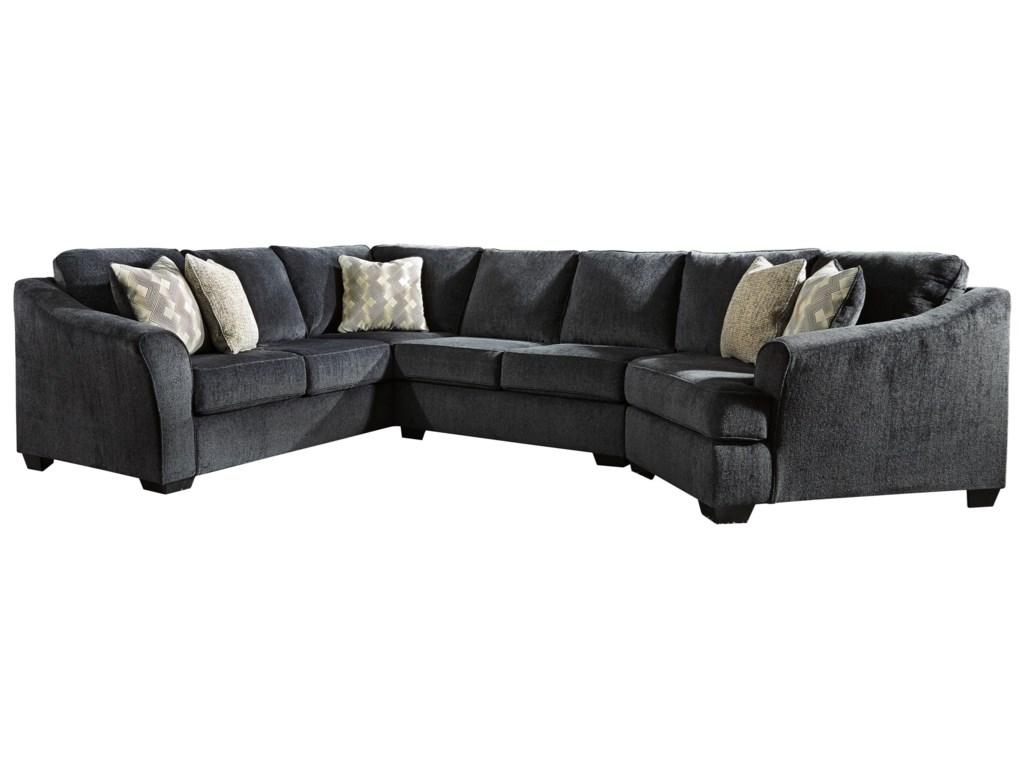 Signature Design By Ashley Eltmann3 Piece Sectional With Right Cuddler