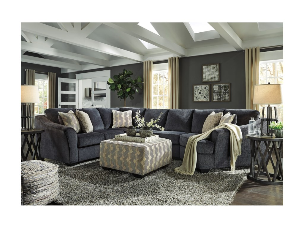 Signature Design by Ashley Eltmann3-Piece Sectional with Right Cuddler