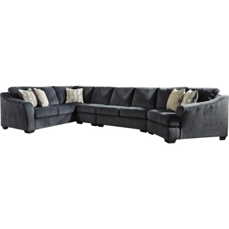 4-Piece Sectional with Right Cuddler