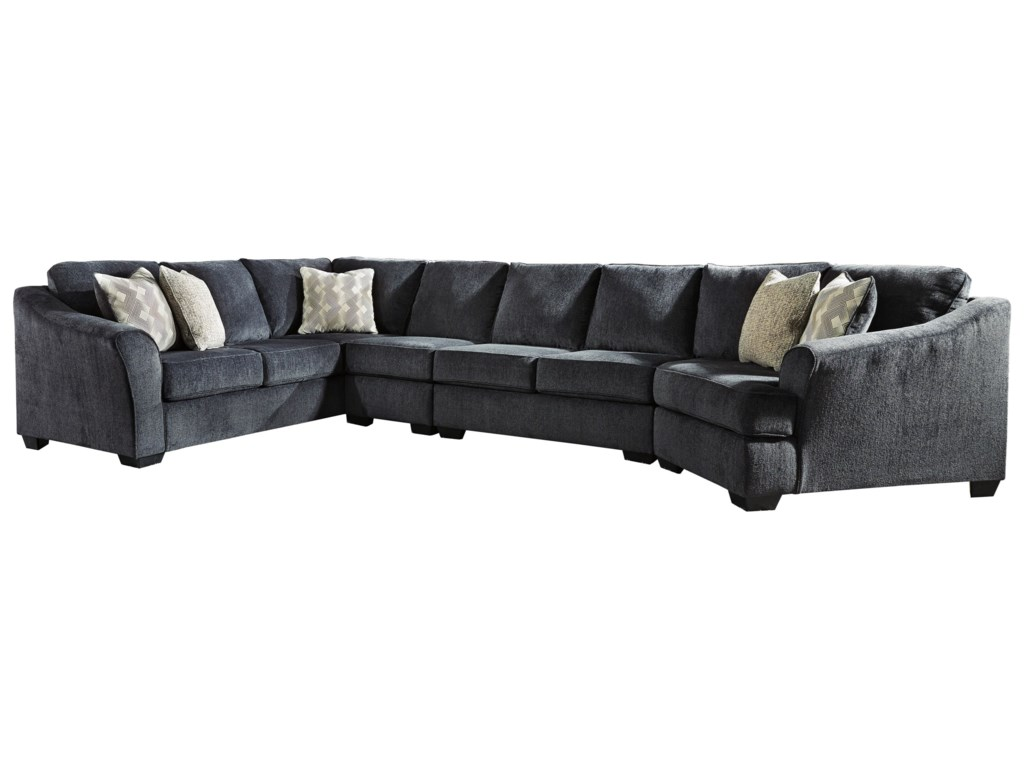 Signature Design by Ashley Eltmann4-Piece Sectional with Right Cuddler
