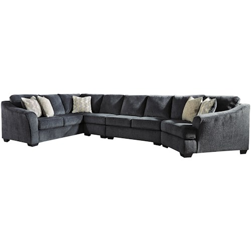 Signature Design by Ashley Eltmann 4-Piece Sectional with Right Cuddler