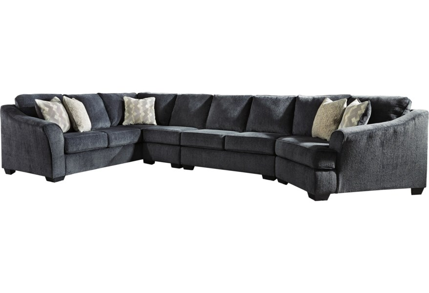 eltmann 4 piece sectional with right cuddler