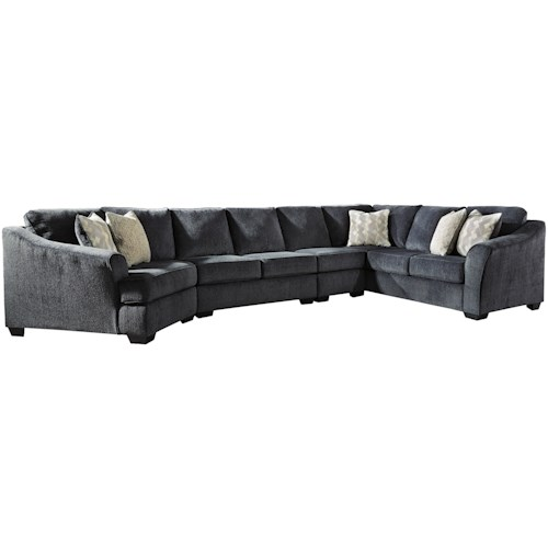 Signature Design by Ashley Eltmann 4-Piece Sectional with Left Cuddler