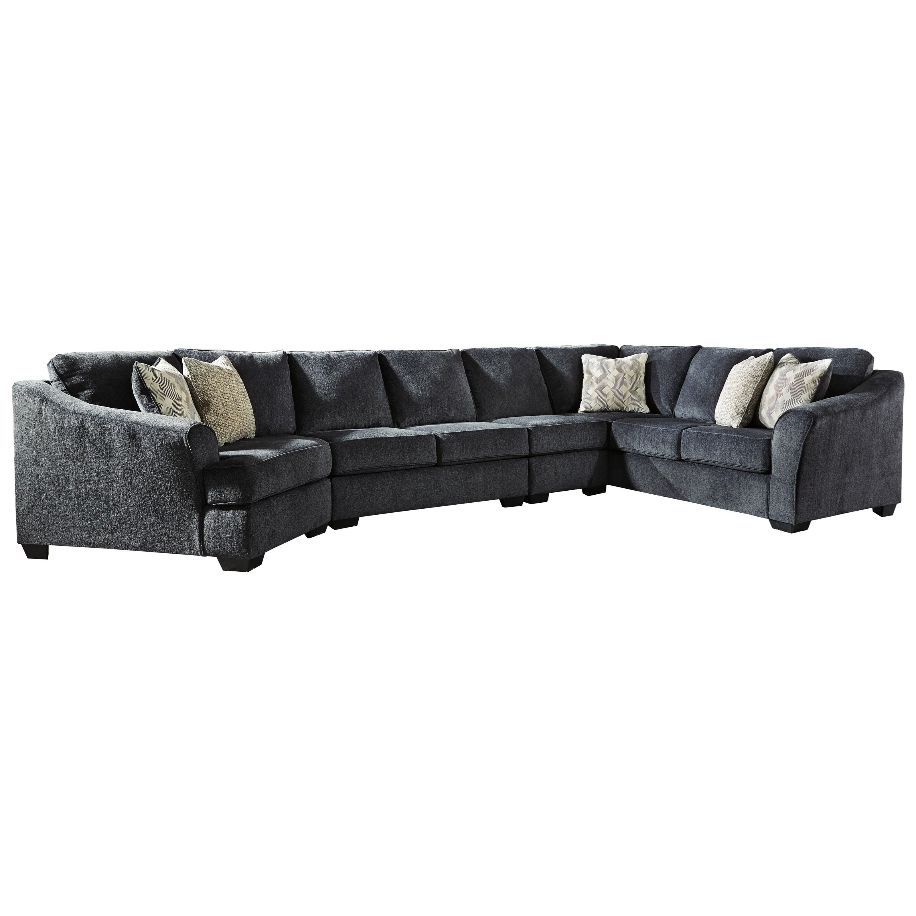 Signature Design Eltmann4 Piece Sectional With Left Cuddler ...