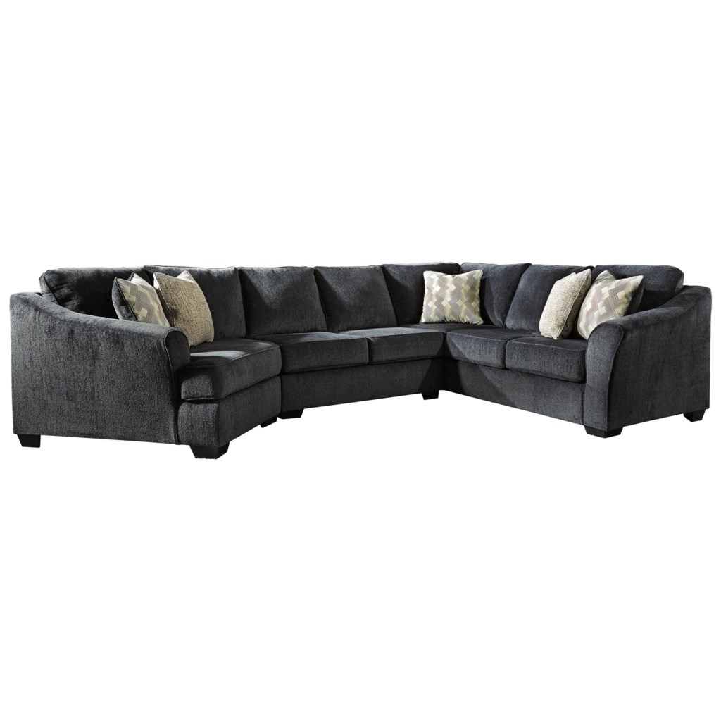 Signature Design By Ashley Eltmann 3 Piece Sectional With Left