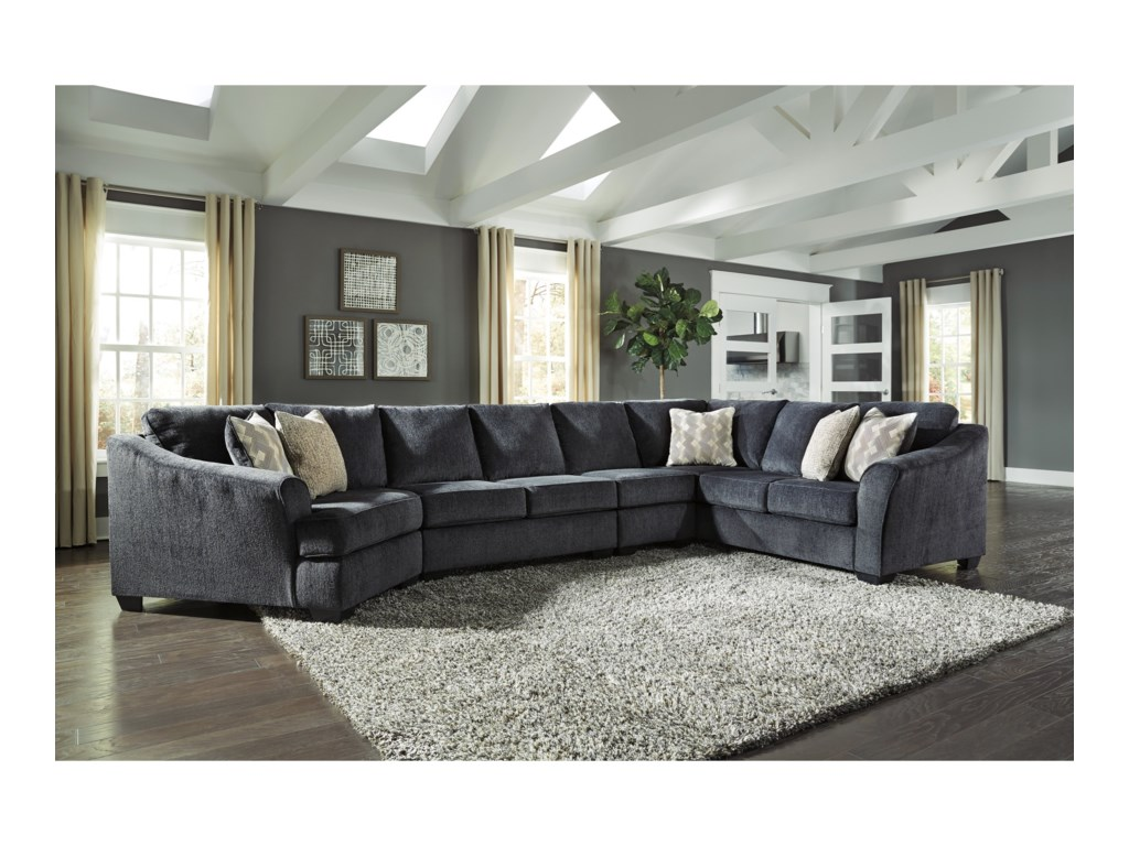 Signature Design by Ashley Eltmann3-Piece Sectional with Left Cuddler