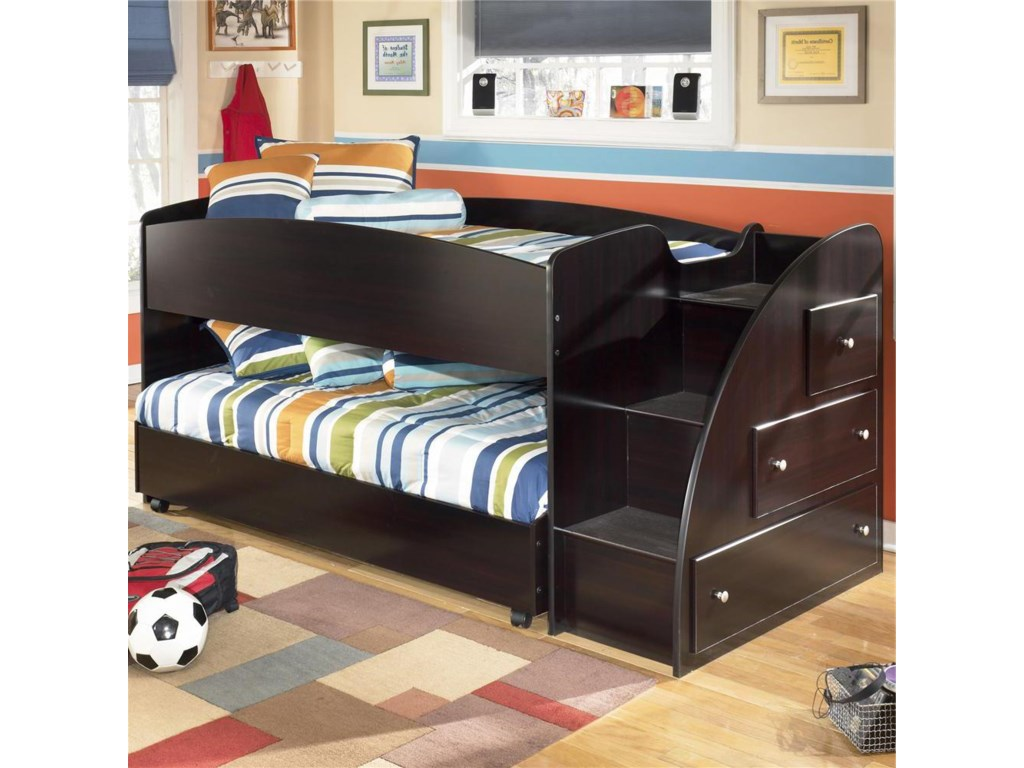 Ashley Signature Design Embrace Twin Loft Bed with Caster Bed and ...