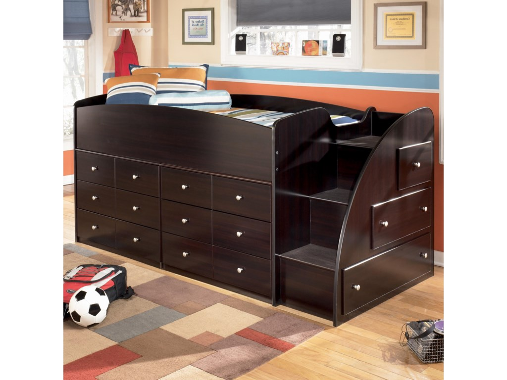 Ashley (Signature Design) EmbraceTwin Loft Bed with Chest Storage