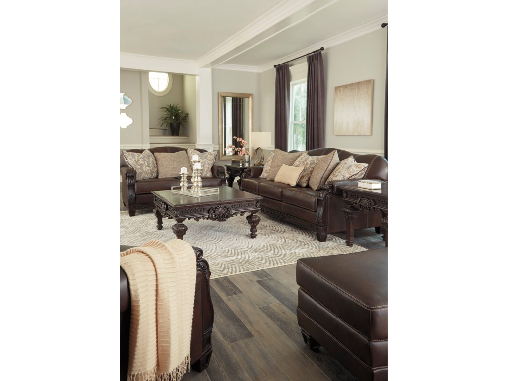 Signature Design by Ashley EmbrookStationary Living Room Group