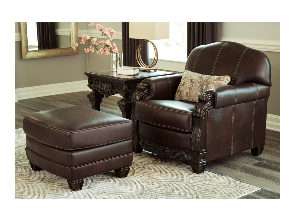 Signature Design by Ashley EmbrookChair and Ottoman Set