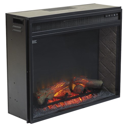 Signature Design by Ashley Entertainment Accessories Large Fireplace Insert Infrared