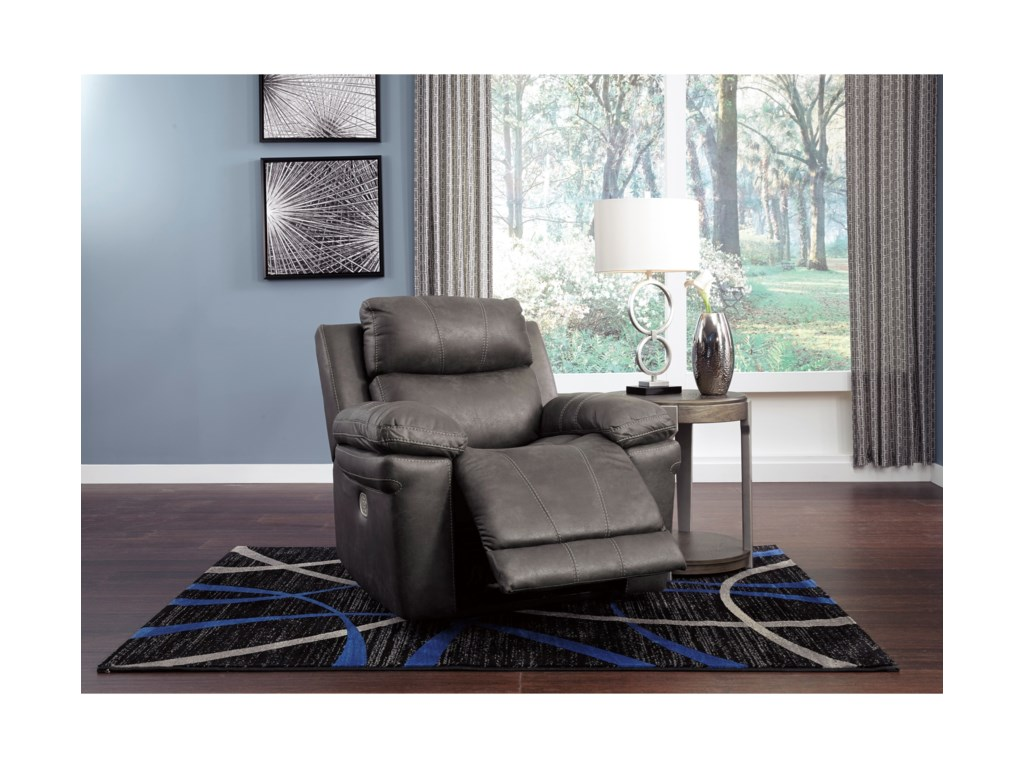 Signature Design by Ashley ErlangenPower Recliner with Adjustable Headrest