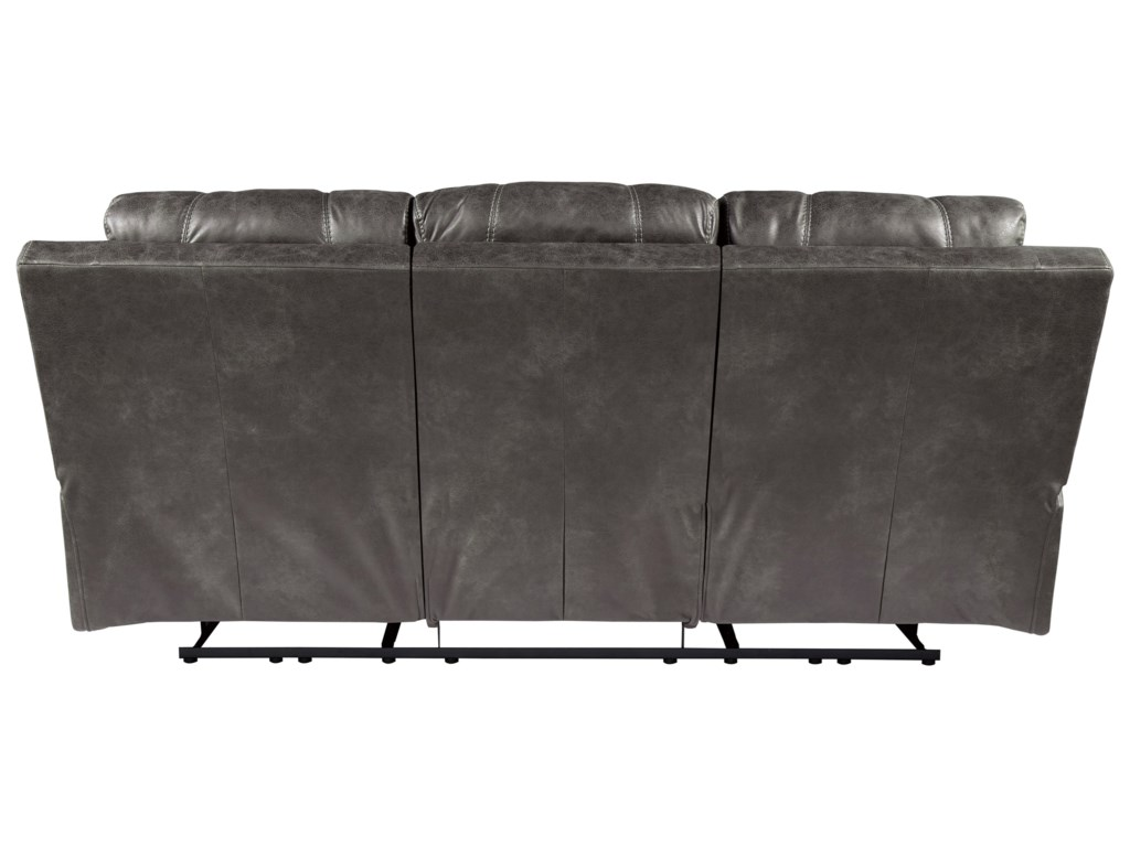Signature Design ErlangenPower Reclining Sofa w/ Adjustable Headrest