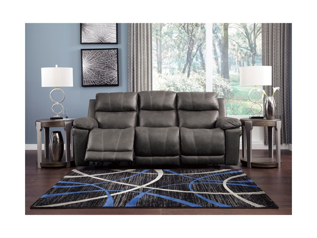 Signature Design by Ashley ErlangenPower Reclining Sofa w/ Power Headrest