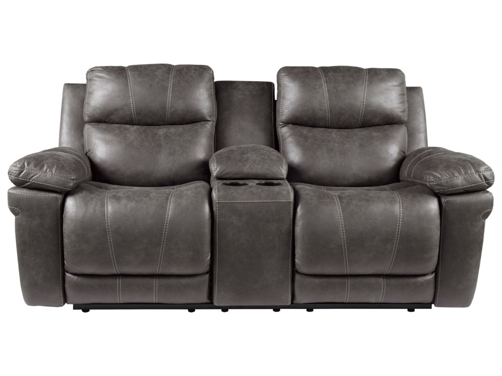 Signature Design by Ashley ErlangenPower Reclining Loveseat with Console