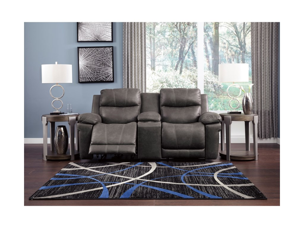 Signature Design by Ashley EdisonPower Reclining Loveseat with Console
