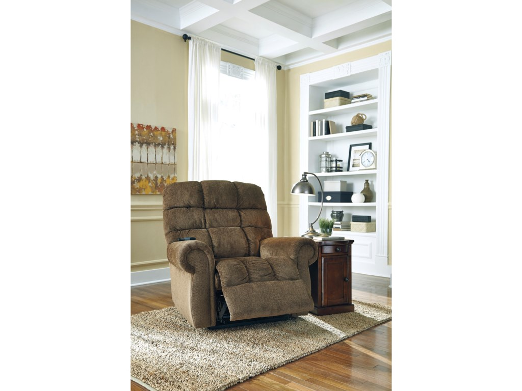 Signature Design by Ashley ErnestinePower Lift Recliner