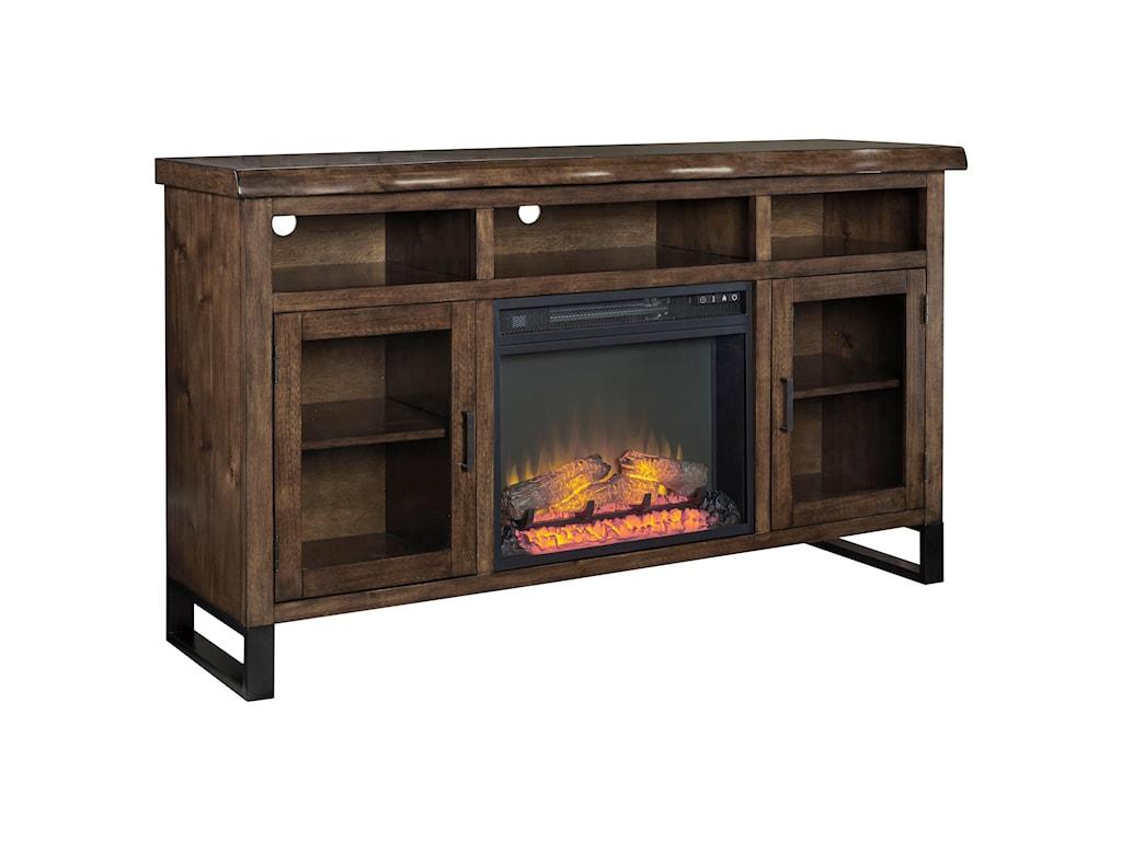 Signature Design by Ashley EsmarinaLarge TV Stand w/ Fireplace Insert