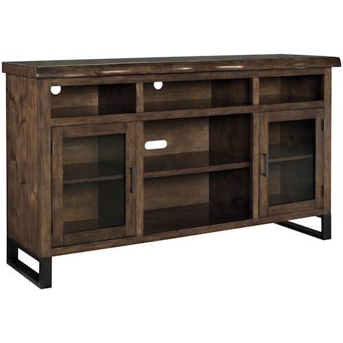 Signature Design by Ashley Esmarina Large TV Stand with Faux Live Edge