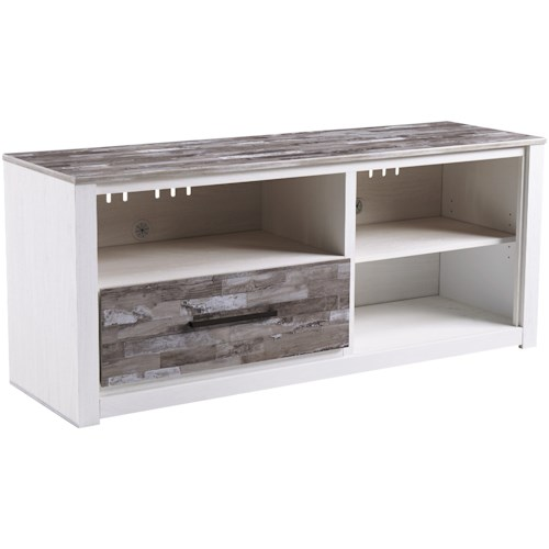 Signature Design by Ashley Evanni Large TV Stand with Adjustable Shelf