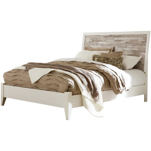 Signature Design by Ashley Evanni Rustic Gray/White Queen Panel Bed