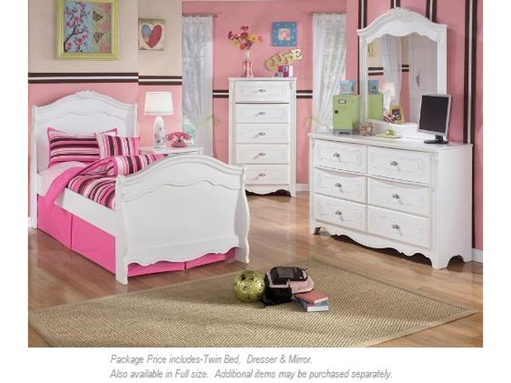 Signature Design by Ashley Exquisite3-PC Twin Bedroom