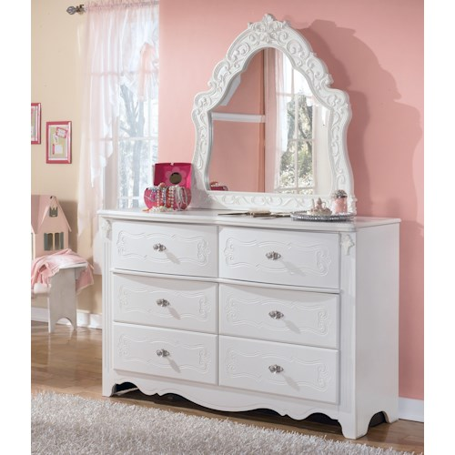 Signature Design By Ashley Exquisite Dresser Ornate Bedroom Mirror Beck 39 S Furniture