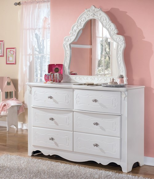 Signature Design by Ashley Exquisite Dresser & Ornate Bedroom Mirror