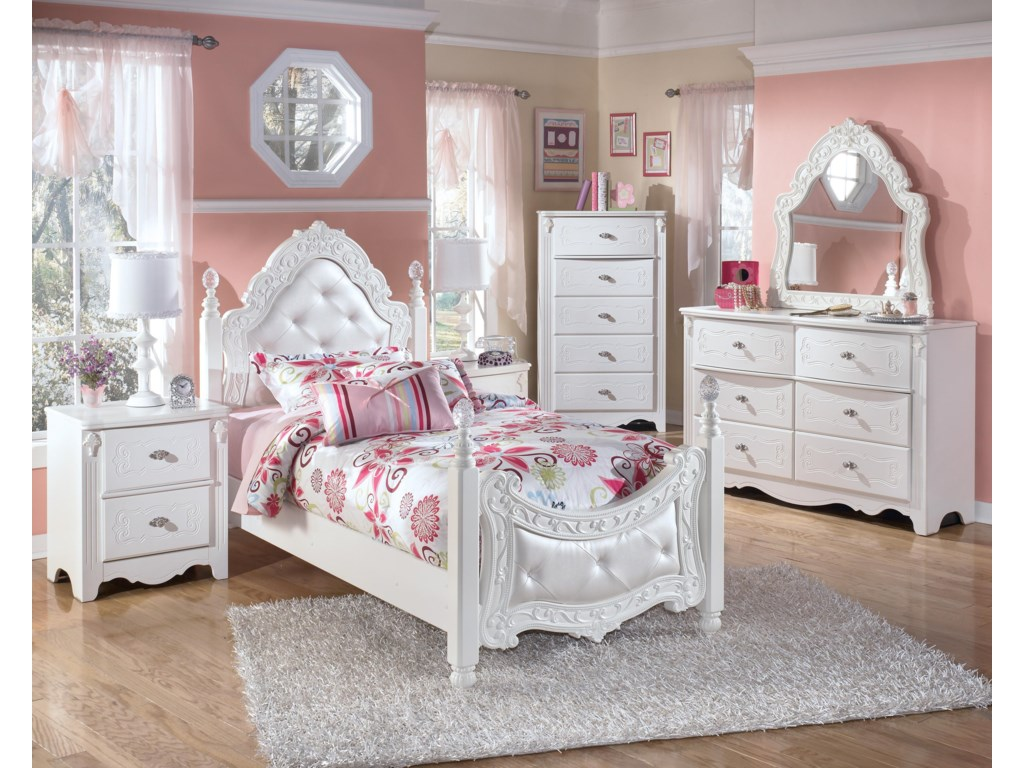 Shown with Night Stand, Poster Bed. Chest, and Dresser