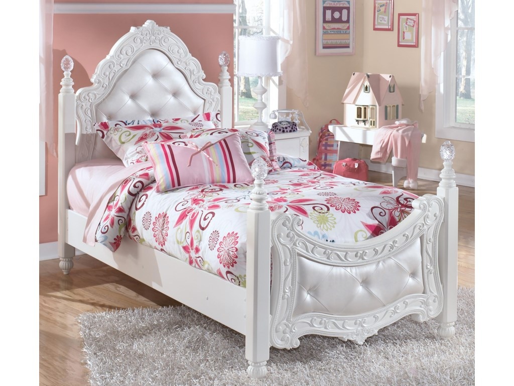 Signature Design by Ashley ExquisiteTwin Poster Bed
