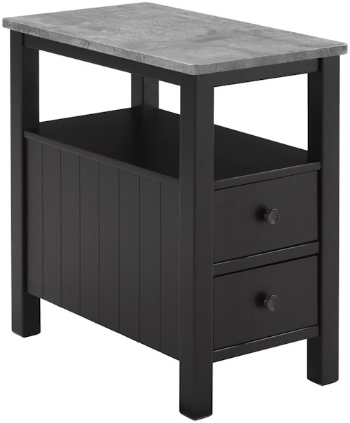 Signature Design by Ashley Ezmonei Chair Side End Table with Faux Marble Top