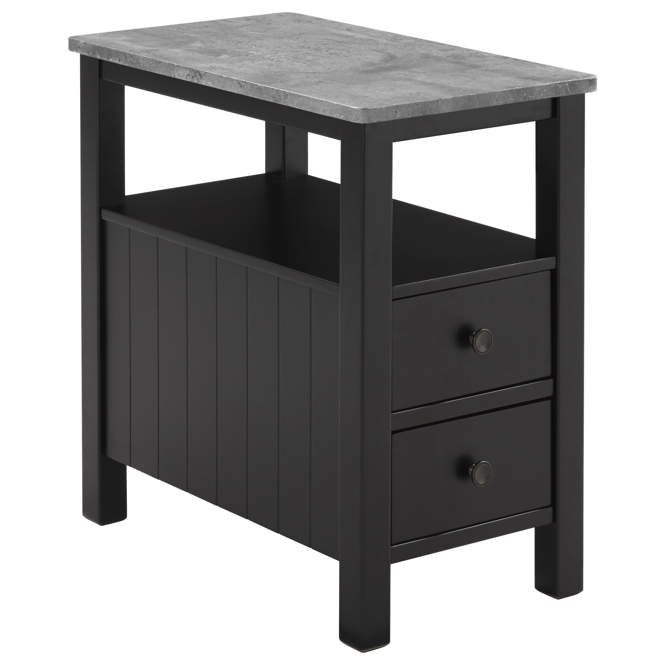 Delicieux Signature Design By Ashley Ezmonei Chair Side End Table With Faux Marble Top