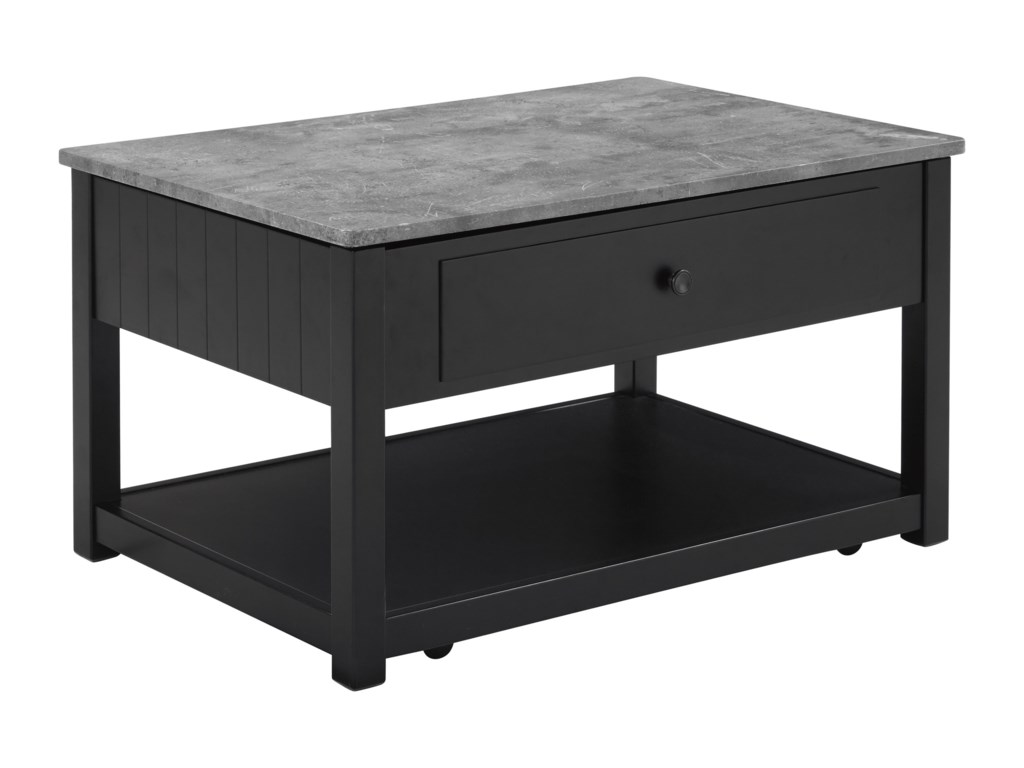 Signature Design By Ashley Ezmonei Lift Top Cocktail Table With Faux - Ashley veldar coffee table