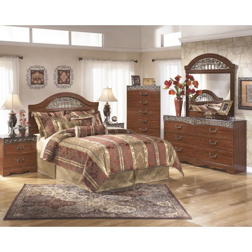 Signature Design by Ashley Fairbrooks Estate Queen Bedroom Group