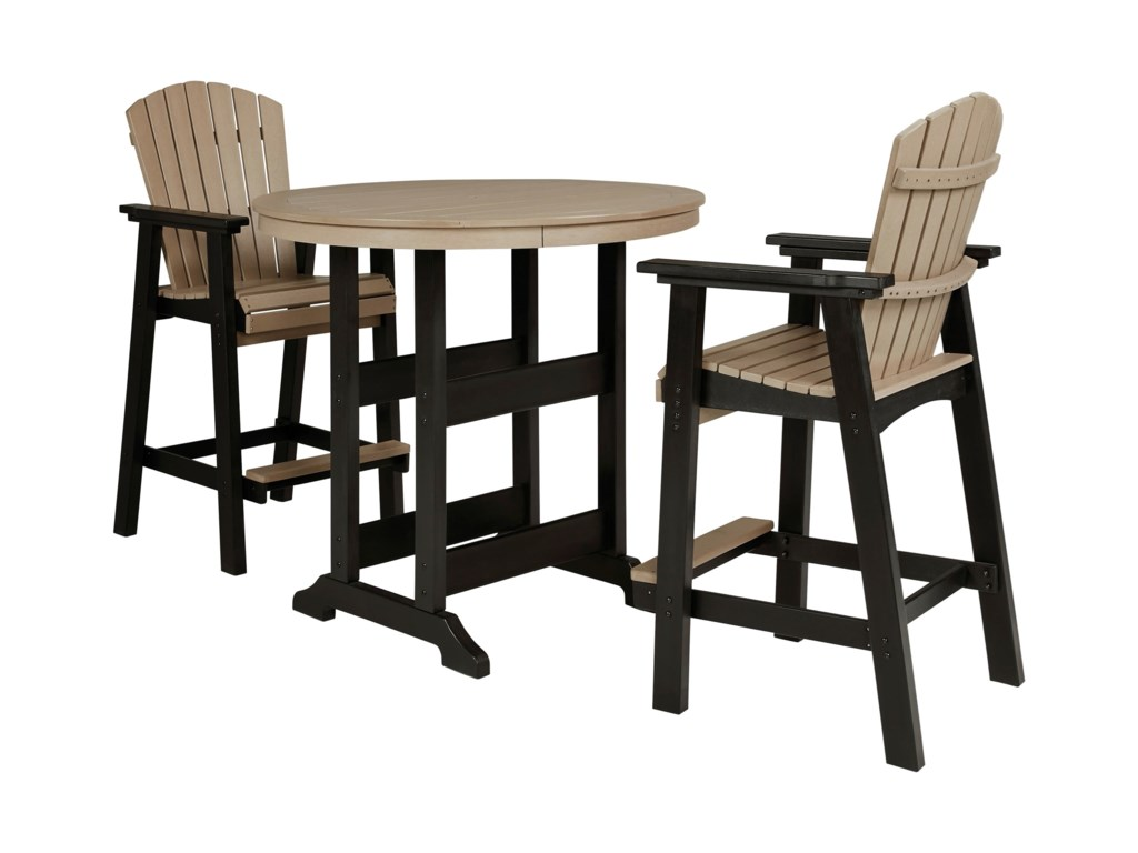 Signature Design by Ashley Fairen Trail3-Piece Round Bar Table Set