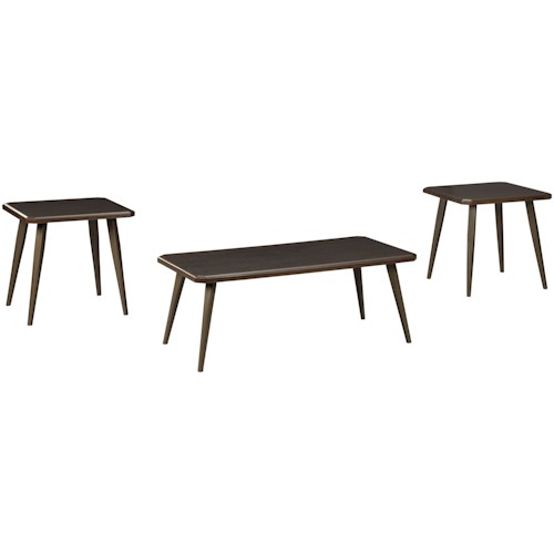 Signature Design by Ashley Fazani Contemporary 3-Piece Occasional Table Set