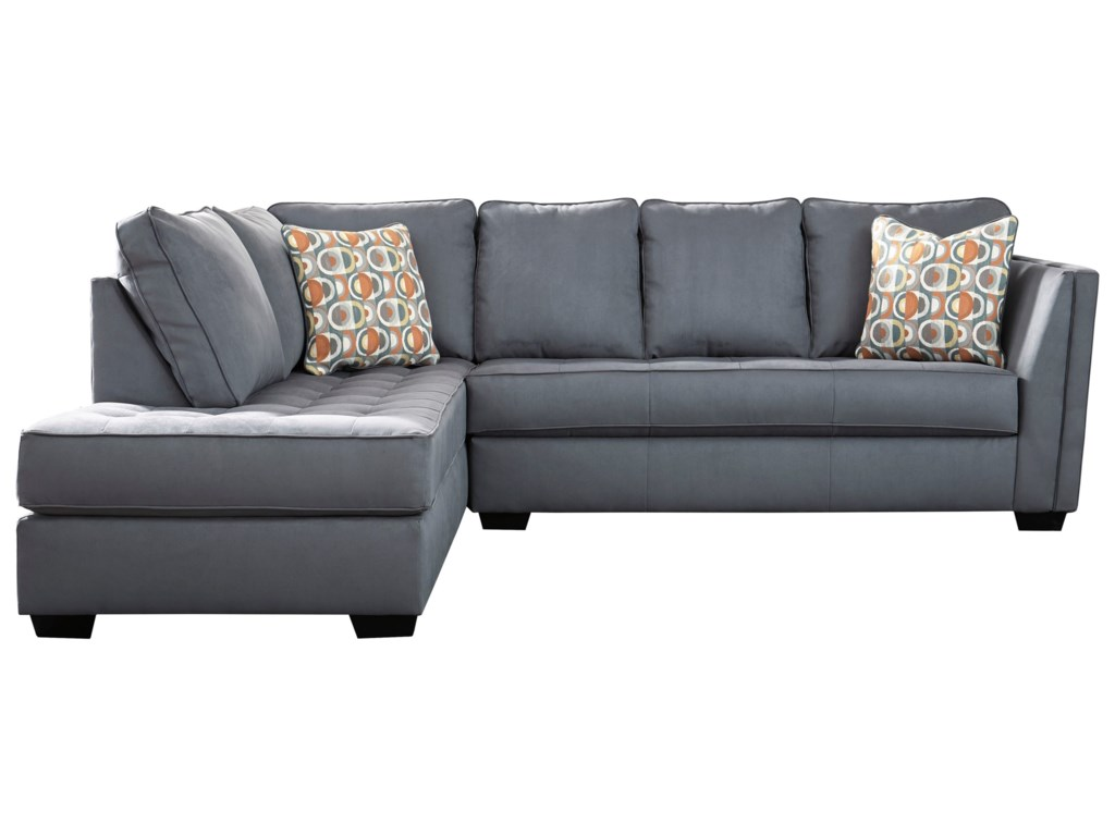 Filone Contemporary Sectional Sofa with Chaise and Cushion Tufting by  Signature Design by Ashley at Furniture Superstore - Rochester, MN