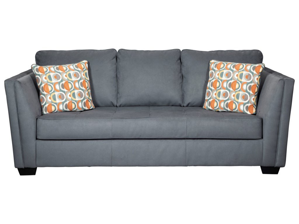 Filone Contemporary Sofa with Seat Cushion Tufting by Signature Design by  Ashley at L Fish