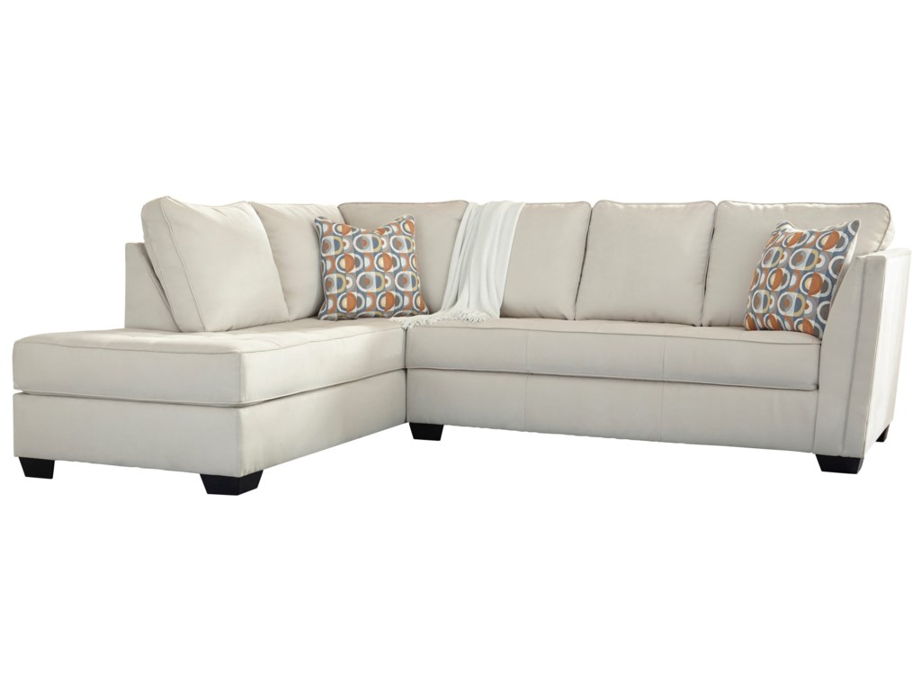 Filone Contemporary Sectional Sofa with Chaise and Cushion Tufting by  Ashley Signature Design at Dunk & Bright Furniture