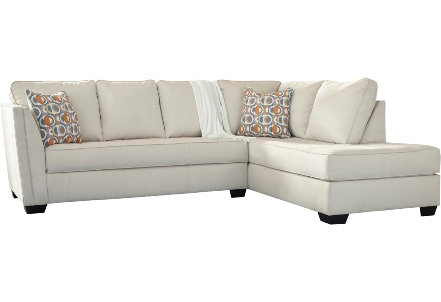Filone Contemporary Sectional Sofa with Chaise and Cushion Tufting by  Signature Design by Ashley at Reid\'s Furniture
