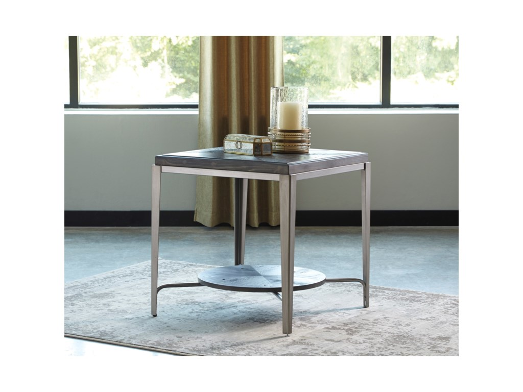 Signature Design By Ashley Flandyn Shelf Square End Table With - Ashley coffee table with stools